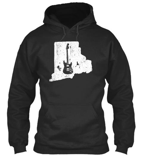 Guitar Beginner Rhode Island Electric Jet Black T-Shirt Front