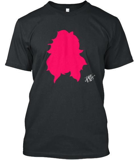 Pink Cigar Skull Black T-Shirt Front