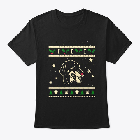 Christmas Lithuanian Hound Gift Black T-Shirt Front
