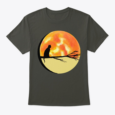 Apathecary Cat Moon Original Art  Smoke Gray T-Shirt Front
