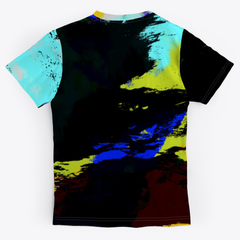 Damn   Batik Tie Dye Camouflage Art Standard T-Shirt Back