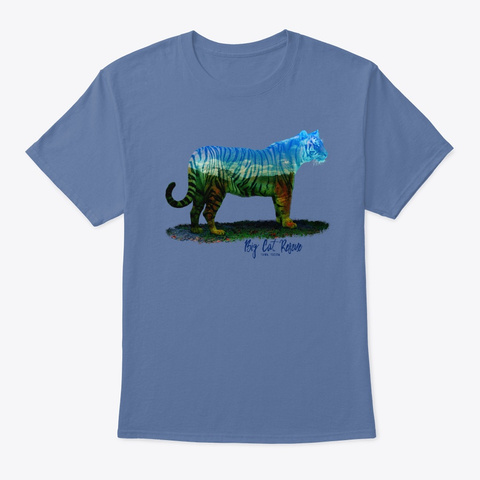 Kali Tiger Silhouette Denim Blue T-Shirt Front