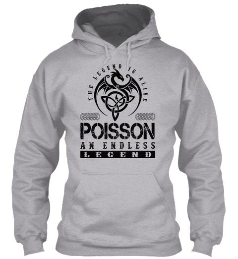 Poisson   Legends Alive Sport Grey T-Shirt Front