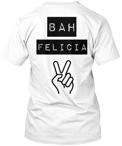 Bah Felicia White T-Shirt Back