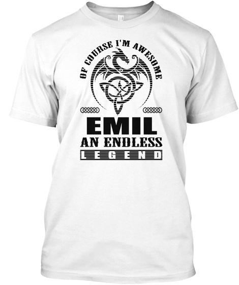 Emil Legend Black Men Shirt White T-Shirt Front