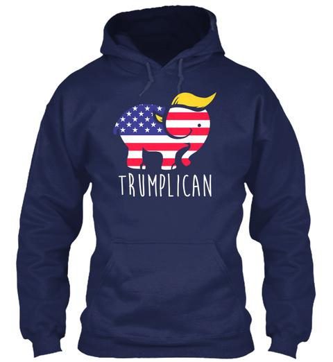 Trumplican Navy Sweatshirt Front