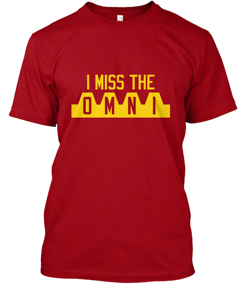 I Miss The O M N I Deep Red T-Shirt Front