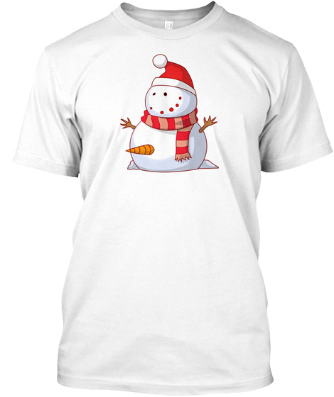 Winter Is Hard White T-Shirt Front