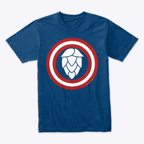 Hoptain America Cool Blue T-Shirt Front