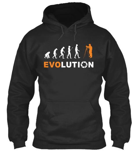 Evo Lution Jet Black T-Shirt Front