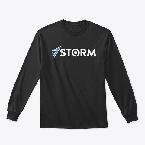 J.Storm Ls Tee Black Long Sleeve T-Shirt Front