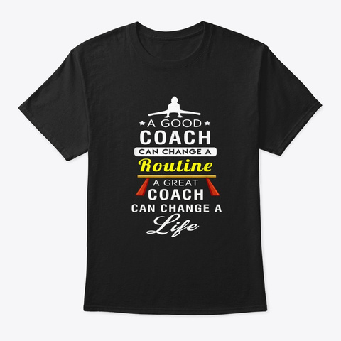 Couch Change A Routine Change A Life Black T-Shirt Front
