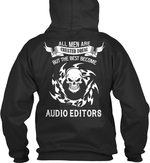 Audio Editors Jet Black T-Shirt Back