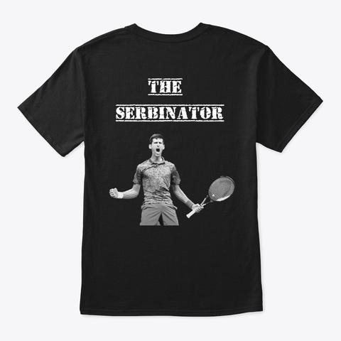 Djokovic No.1 Black T-Shirt Back