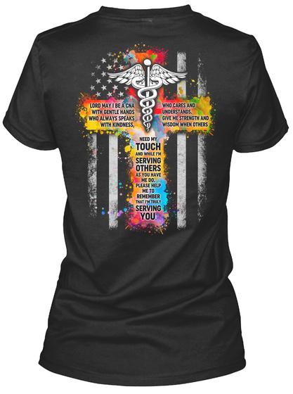 Proud Cna Shirt Black T-Shirt Back