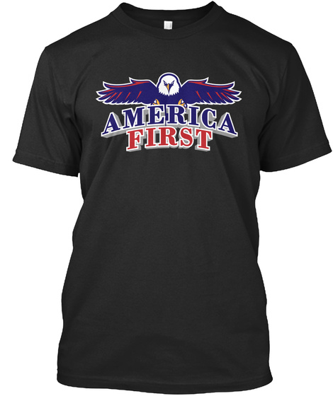 America First Black T-Shirt Front