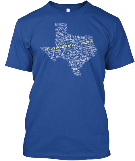 Texas Houston East Mission Called To Serve 28th State Chili Bbq Brisket Deep Royal T-Shirt Front
