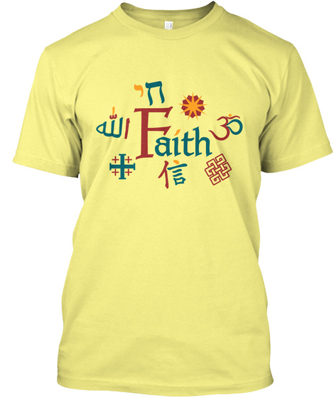 Faith Lemon Yellow  T-Shirt Front