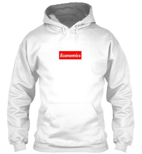 Economics Arctic White Sweatshirt Front