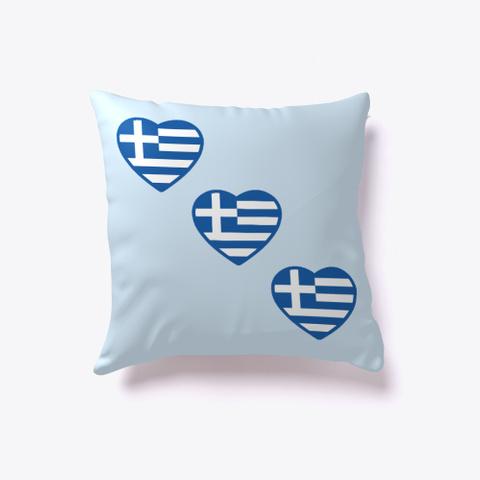 I Love Greece Pale Blue T-Shirt Front