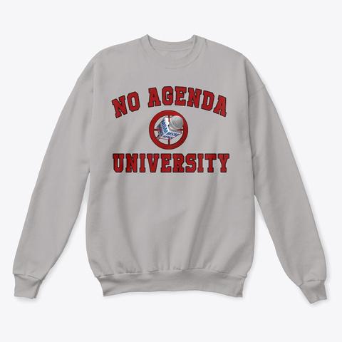 No Agenda University Light Steel  T-Shirt Front