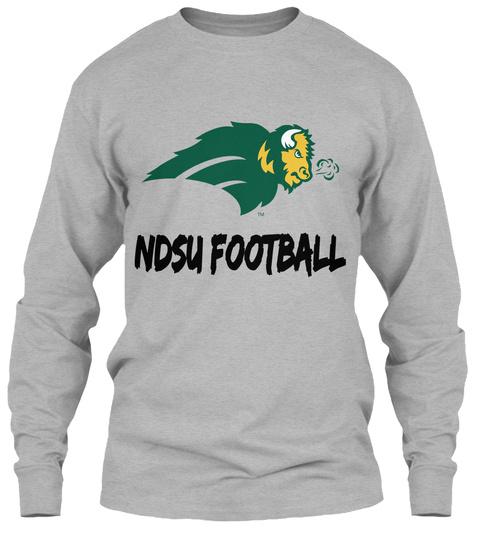 Ndsu Football Sport Grey Long Sleeve T-Shirt Front