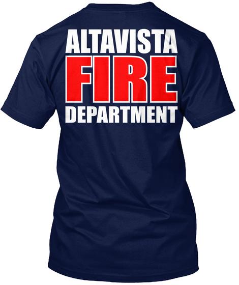 Altavista Fire Departure Navy T-Shirt Back
