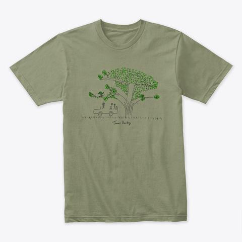 Ficus Light Olive T-Shirt Front