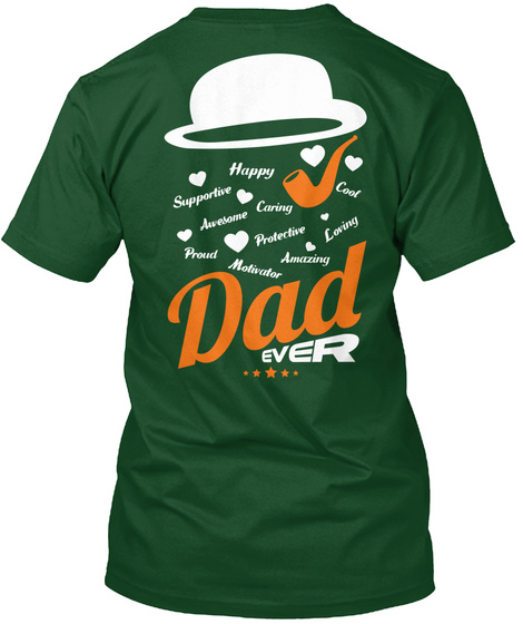 All About Dad   Gift For Father. Deep Forest T-Shirt Back