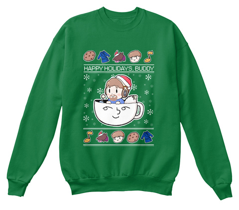 Destinygg Holiday Option Kelly Green  Sweatshirt Front