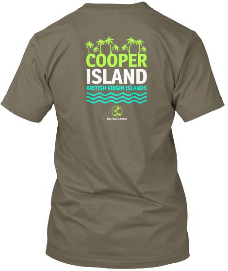 Cooper Island British Virgin Islands Venetian Gray T-Shirt Back