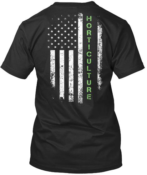 Horticulture Black T-Shirt Back