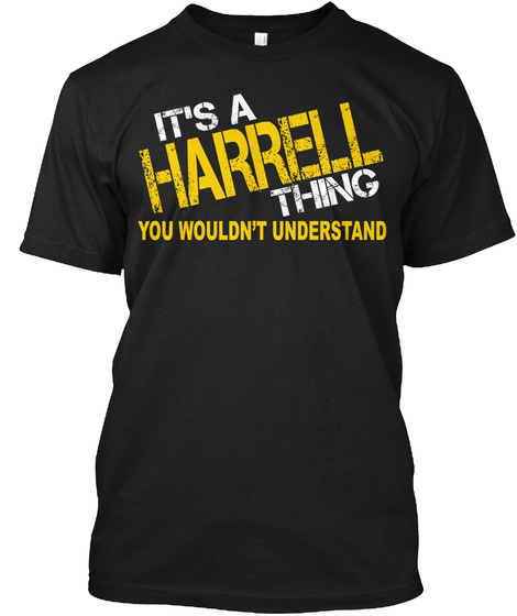 Harrell Thing [Limited Time Sale] Black T-Shirt Front