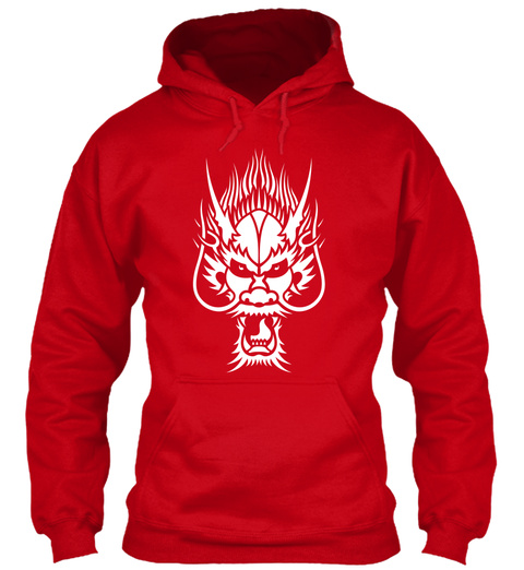 Dragon Head Red T-Shirt Front
