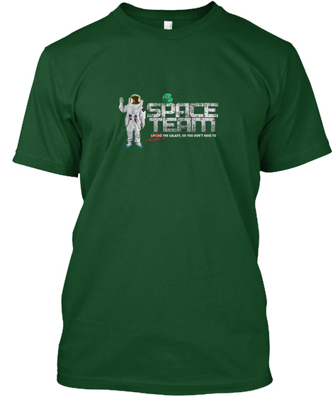 Cal Splurt And The Space Team Logo Deep Forest T-Shirt Front