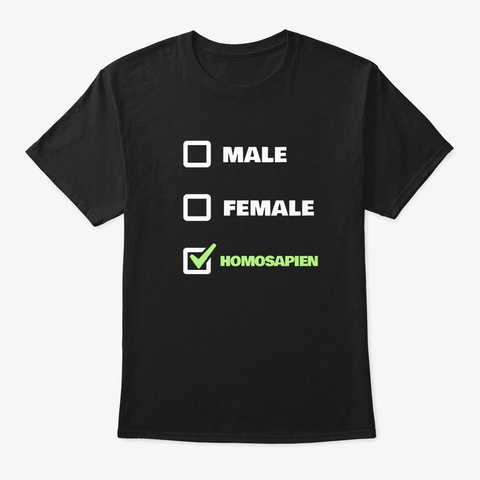 Agender Pride Lgbtq Homosapien Party Black T-Shirt Front