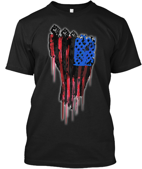 Red, Black, &Amp; Blue Black T-Shirt Front