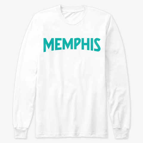 Memphis White T-Shirt Front