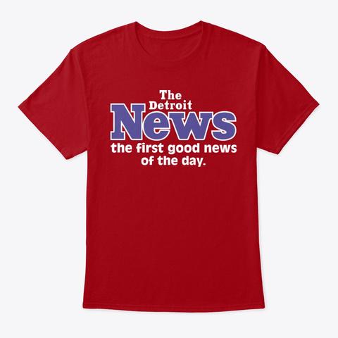 Detroit News T Shirts Deep Red T-Shirt Front