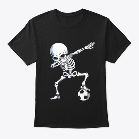 Halloween Dabbing Skeleton Apparel Black T-Shirt Front
