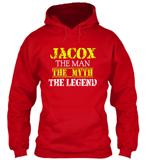 Ja Cox The Man The Myth The Legend Red T-Shirt Front