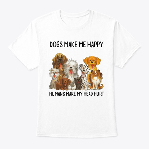 Dogs 01 January White T-Shirt Front