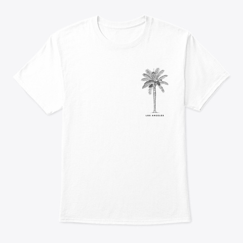 La Palm White T-Shirt Front