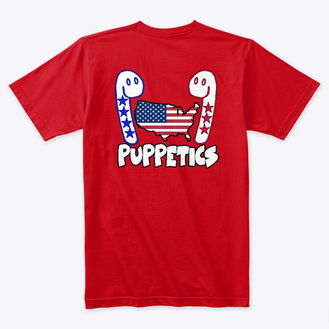 Puppetics I Suck At Being Racist T Shirt Red T-Shirt Back