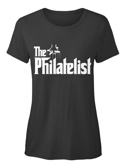 The Philatelist Black T-Shirt Front