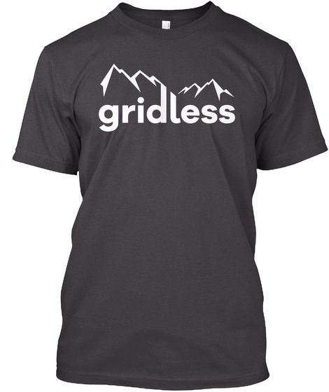 Gridless Life Classic Tee Heathered Charcoal  T-Shirt Front