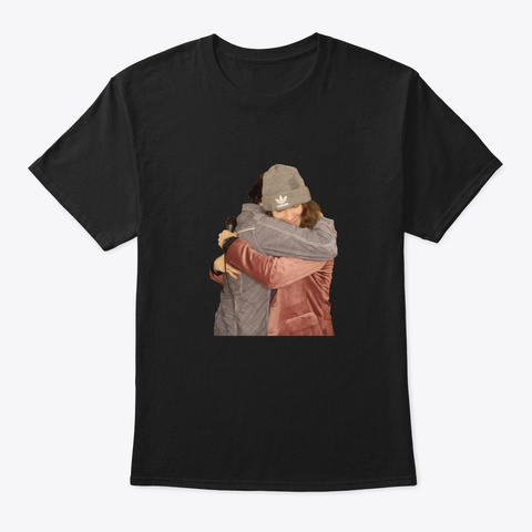 Chandler And Matthias Hug   Full Black T-Shirt Front