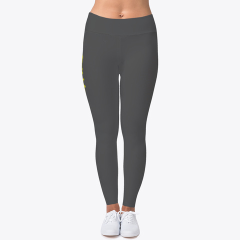 Citikidz (Yellow Font) Leggings Charcoal Maglietta Front