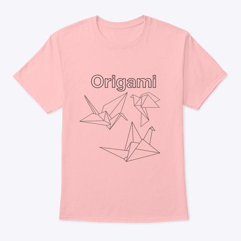 Origami  Pale Pink T-Shirt Front