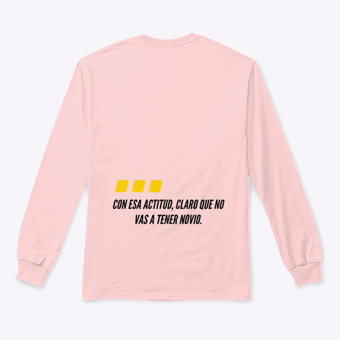 Y El Novio? Light Pink Long Sleeve T-Shirt Back